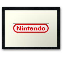 Nintendo NES logo Classic Video Games Framed Print