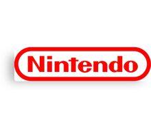 Nintendo NES logo Classic Video Games Canvas Print
