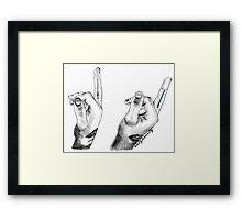 Zayn Lightsaber Framed Print