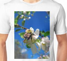 blue skies and a bee 2 Unisex T-Shirt