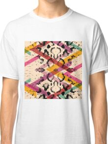 Colourful Snake Skin Texture Classic T-Shirt