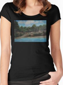 Studio View AC160216r Women's Fitted Scoop T-Shirt
