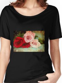 A painting of a bunch of Roses Women's Relaxed Fit T-Shirt
