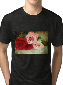 A painting of a bunch of Roses Tri-blend T-Shirt