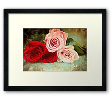 A painting of a bunch of Roses Framed Print
