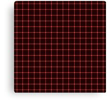 Martix Optical Illusion Grid in Black and Red Canvas Print