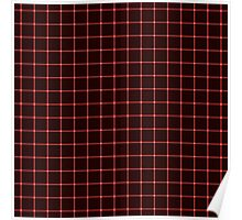 Martix Optical Illusion Grid in Black and Red Poster