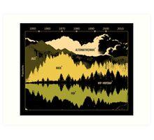 Music Timeline Art Print