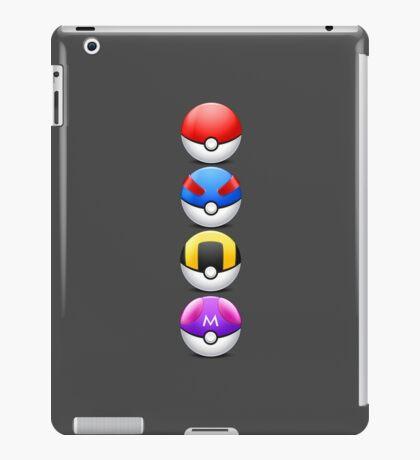All 4 Pokemon Balls - Color iPad Case/Skin