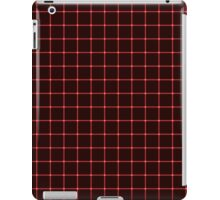 Martix Optical Illusion Grid in Black and Red iPad Case/Skin