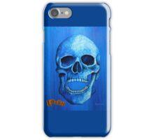 Blue Skull - Laugh iPhone Case/Skin