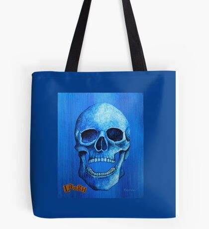 Blue Skull - Laugh Tote Bag