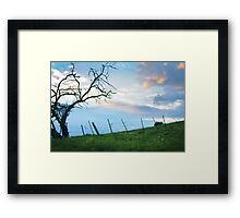 Our troubles faded with the sun Framed Print