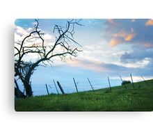 Our troubles faded with the sun Canvas Print