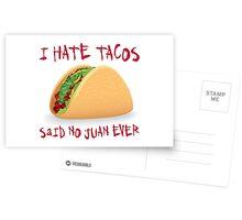 Funny Taco Postcards