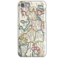 Vintage Map of Europe (1706) iPhone Case/Skin