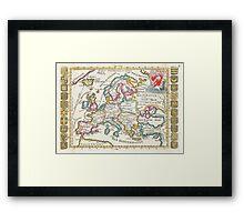 Vintage Map of Europe (1706) Framed Print