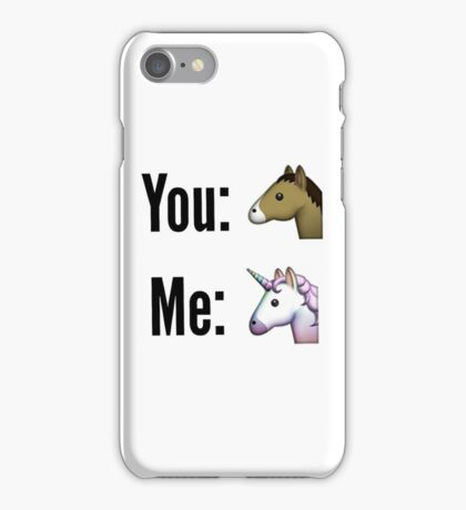 You vs. Me iPhone Case/Skin