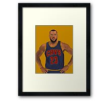 LeBron James Cleveland Cavaliers NBA Painting Framed Print