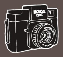 Drawing of Holga Camera Baby Tee