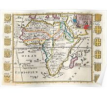 Vintage Map of Africa (1710) Poster