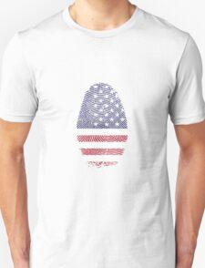 Vintage USA Finger print Unisex T-Shirt