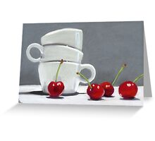 Cherries and Coffee cup Greeting Card