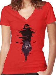 Persona 5 Protag  Women's Fitted V-Neck T-Shirt