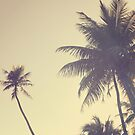 Coconut Trees Trendy Hipster Vintage Desaturated Summer by Beverly Claire Kaiya