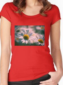 Daisy Flowers Women's Fitted Scoop T-Shirt