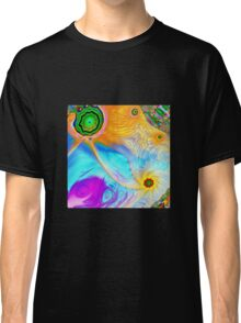 Hipster fish and Mixed colored Painting Classic T-Shirt