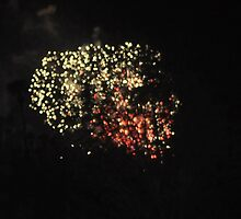 FLAXEN HAIRED LADY IN THE FIREWORKS by JAYMILO