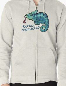 Reptile Dysfunction Zipped Hoodie