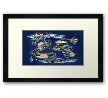 Ramathian World Map Framed Print