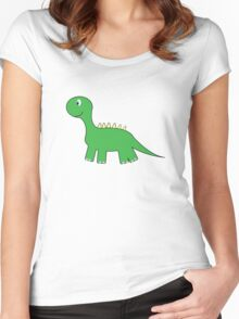 Green Dinosaur Women's Fitted Scoop T-Shirt