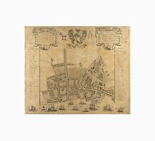 Vintage Map of Liverpool England (1725) Unisex T-Shirt