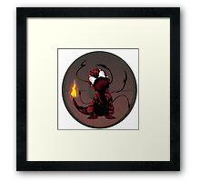 Charmander Carnage Mash-Up Framed Print