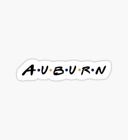 Auburn Friends Sticker Sticker