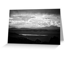 Wilkerson Pass in black and white Greeting Card