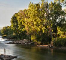 Arkansas River at Sunset Sticker