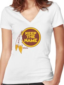 Redskins Keep The Name Women's Fitted V-Neck T-Shirt
