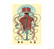 Space Jellyfish (Dr Seuss Inspired) Art Print