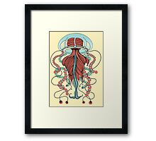 Space Jellyfish (Dr Seuss Inspired) Framed Print