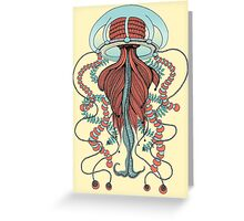 Space Jellyfish (Dr Seuss Inspired) Greeting Card
