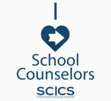 I Heart School Counselors - SC CS Support One Piece - Short Sleeve