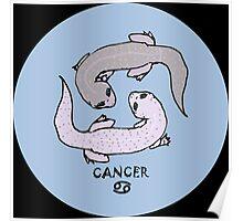 """Zodiac Geckos -- """"Cancer"""" Poster"""