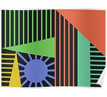 Abstract Lines of Color Poster