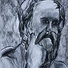 Socrates charcoal drawing by Followthedon