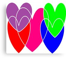 free-floating hearts Canvas Print