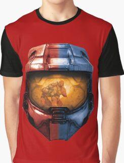 Red vs Blue Helmet Graphic T-Shirt